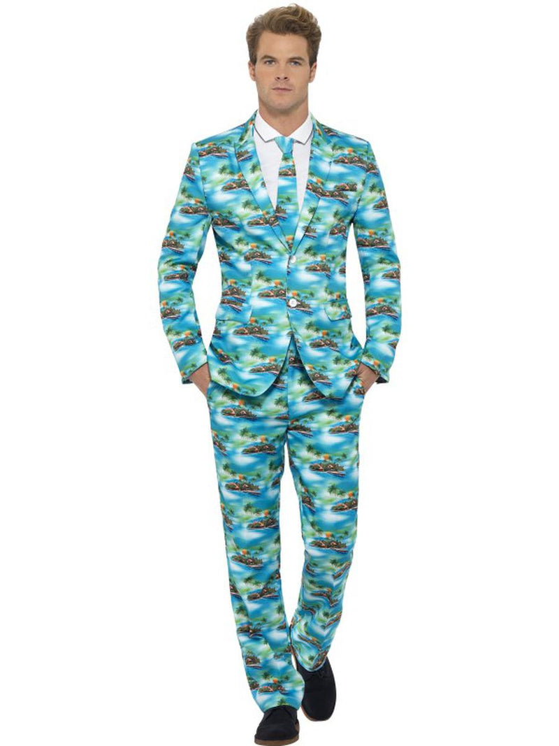 3-PC-Men's-Hawaiian-Aloha-Island-Vacation-Suit-Jacket-&-Pants-w/-Tie-Party-Costume