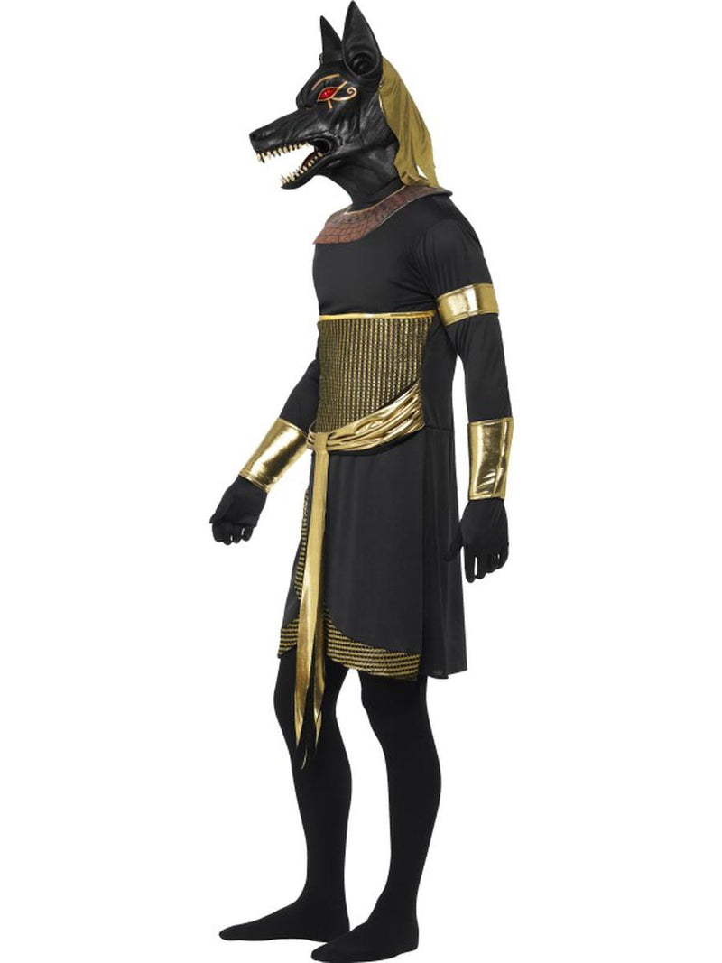 7 PC Egyptian God Anubis the Jackal Tunic & Mask w/ Accessories Party Costume - Fest Threads