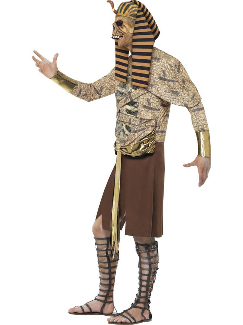4 PC Men's Zombie Egyptian Pharaoh Tabard & Headpiece w/ Arm Cuffs Party Costume - Fest Threads