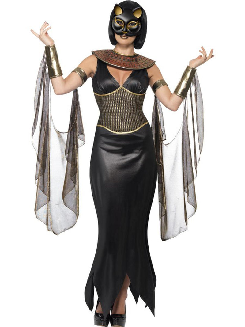 5-PC-Egyptian-Goddess-Bastet-the-Cat-Goddess-Dress-&-Mask-w/-Accessories-Costume