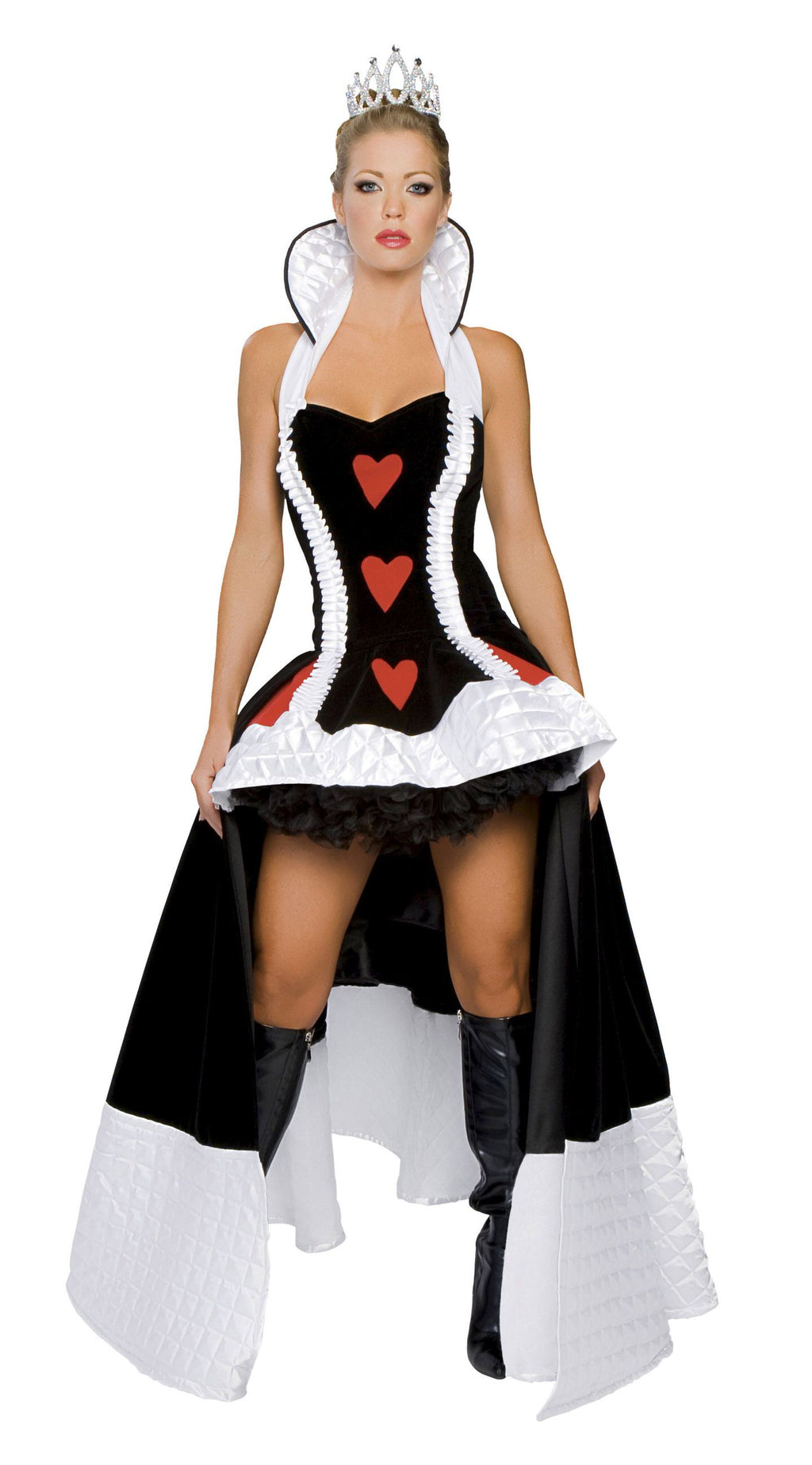 3-Piece-Alice-in-Wonderland-Queen-of-Hearts-Peplum-Gown-Dress-Costume