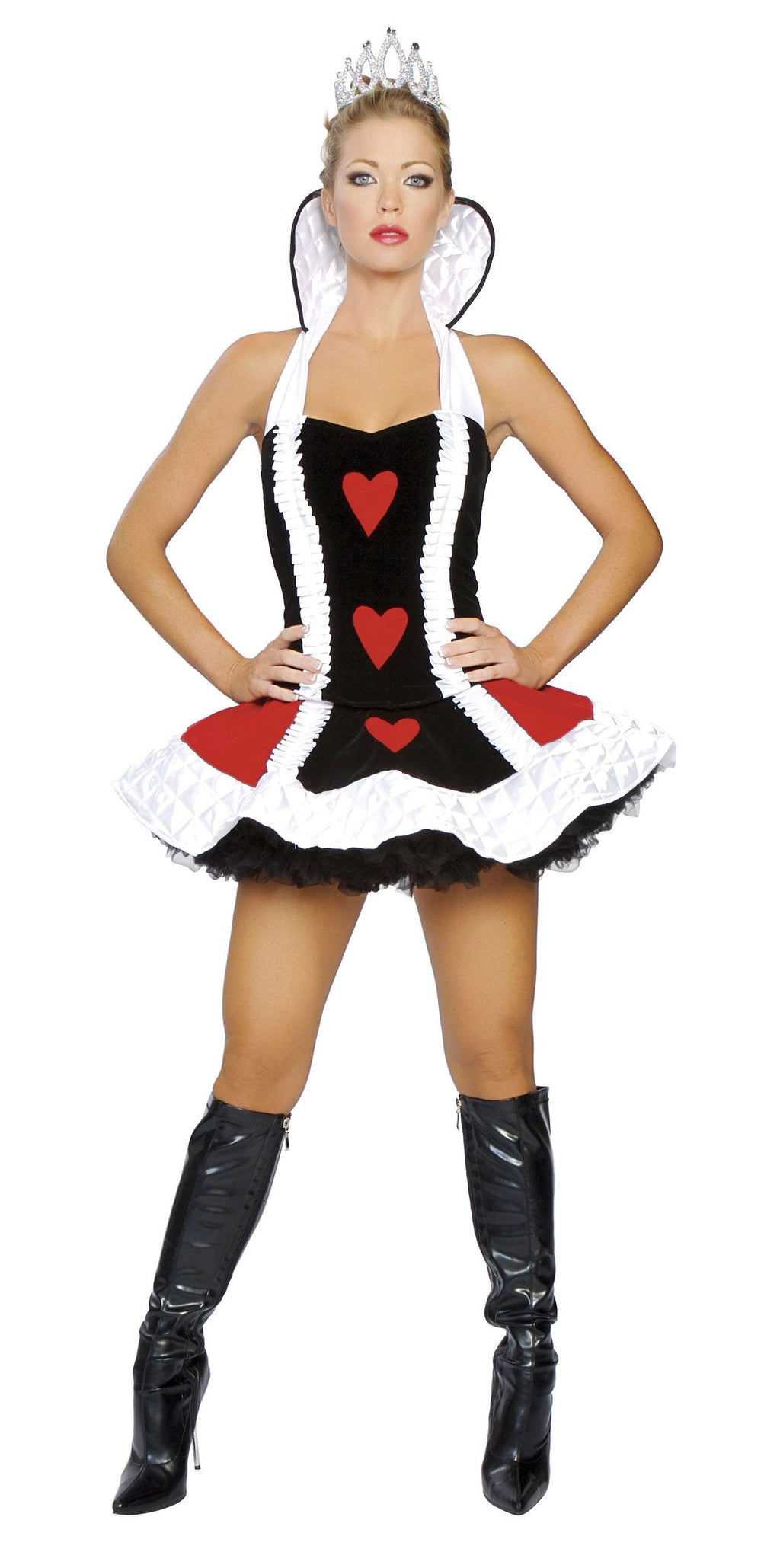 3-Piece-Alice-in-Wonderland-Queen-of-Hearts-Peplum-Dress-Costume