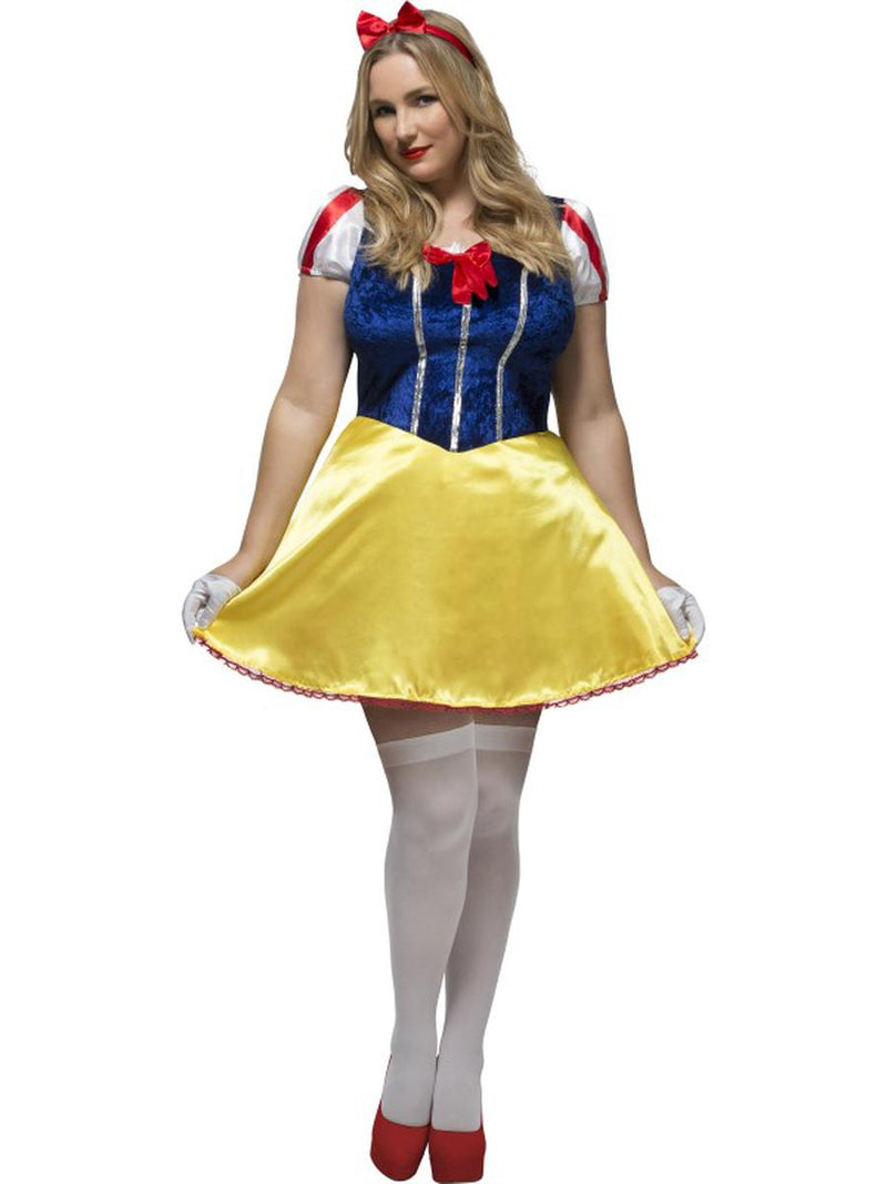 2-PC-Fairytale-Princess-Blue-&-Yellow-Dress-&-Headband-Costume---Plus-Size