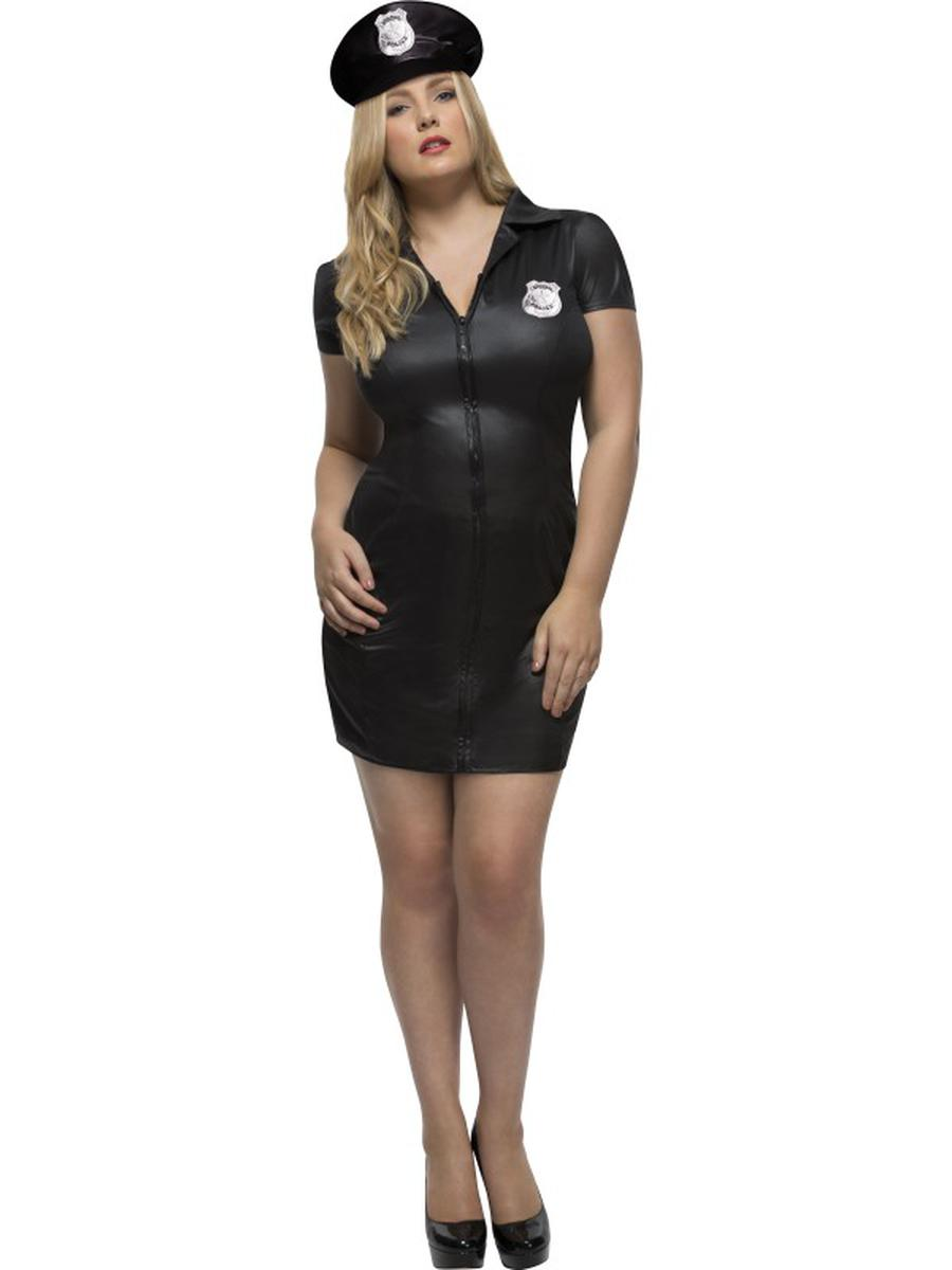2-PC-Women's-Police-Officier-Cop-Dress-&-Hat-Party-Costume---Plus-Size