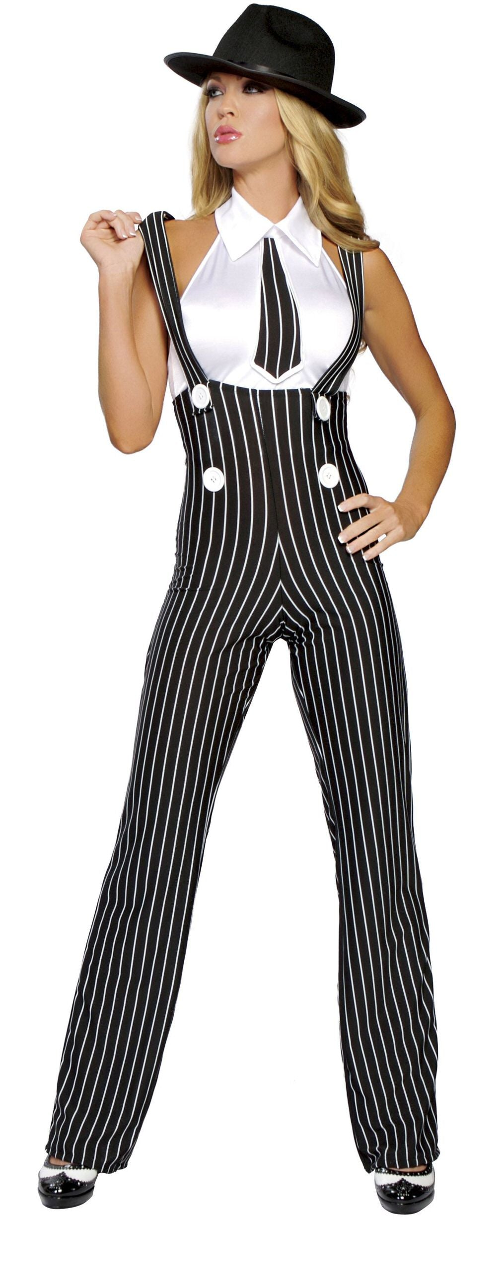 2-Piece-Sexy-Gangster-Mob-Wife-Suspender-Pants-&-Top-Costume