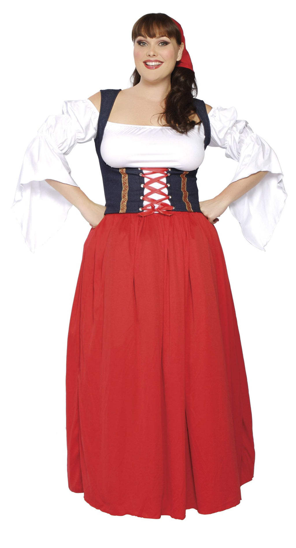 4-Piece-Swiss-Beer-Girl-Oktoberfest-Long-Dress-Costume