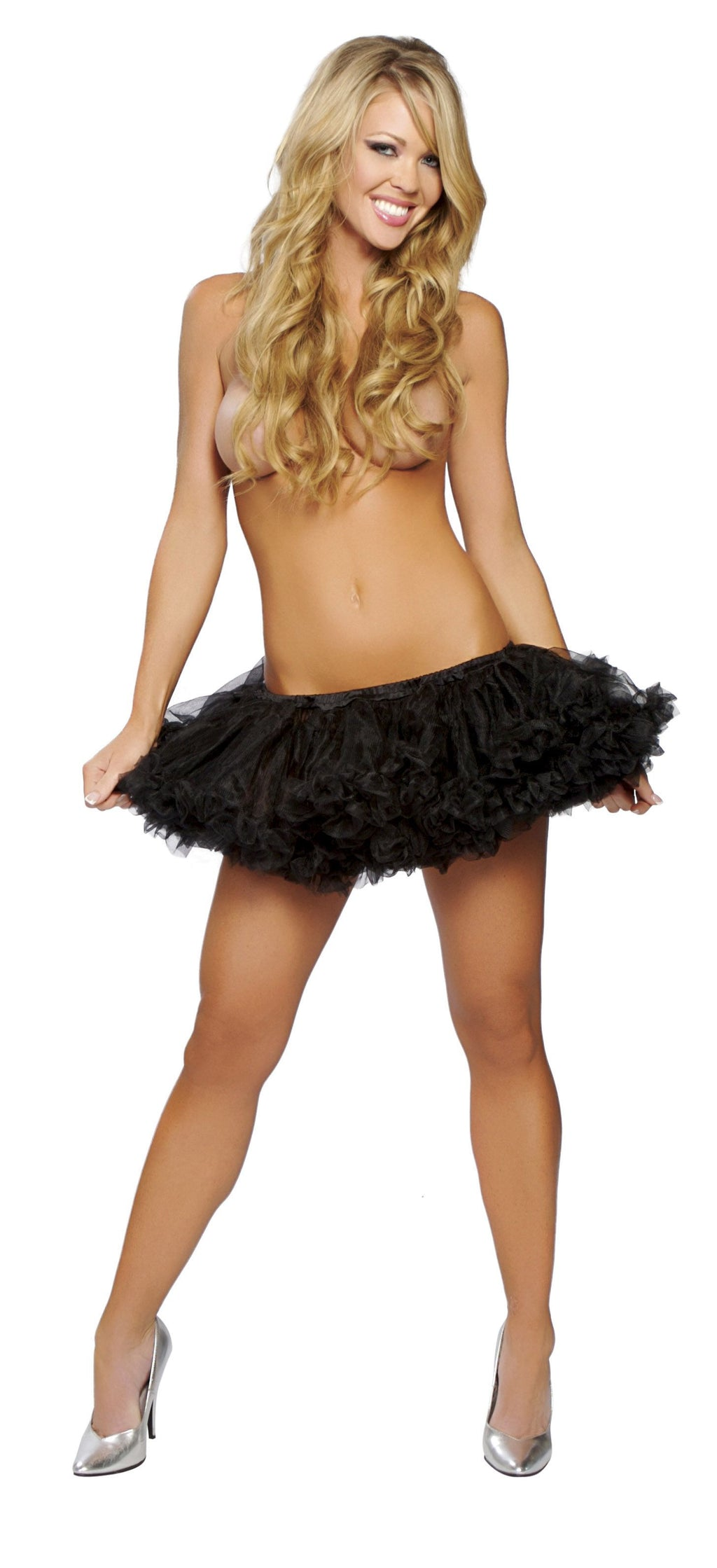 Adult-Women's-Polyester-Tutu-Petticoat-Party-Costume-Accessory---Multiple-Colors
