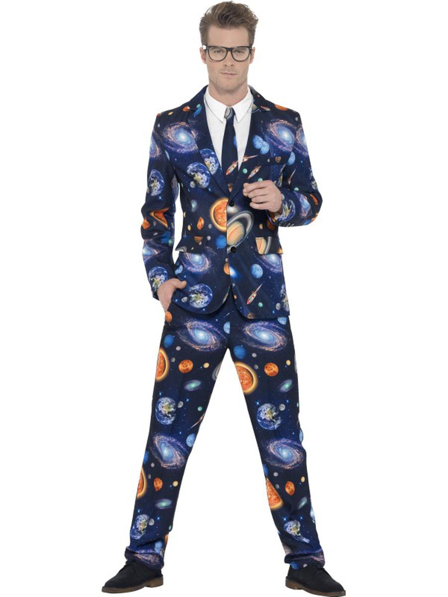 3-PC-Men's-Blue-Solar-System-Galaxy-Suit-Jacket-&-Pants-w/-Tie-Party-Costume