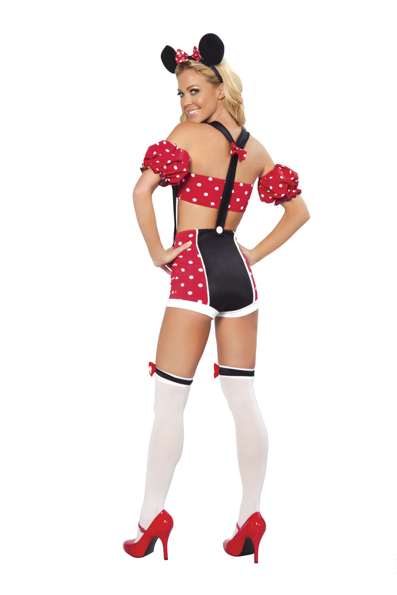 4 Piece Mouse Bra Top & High Waisted Shorts w/ Accessories Party Costume - Fest Threads