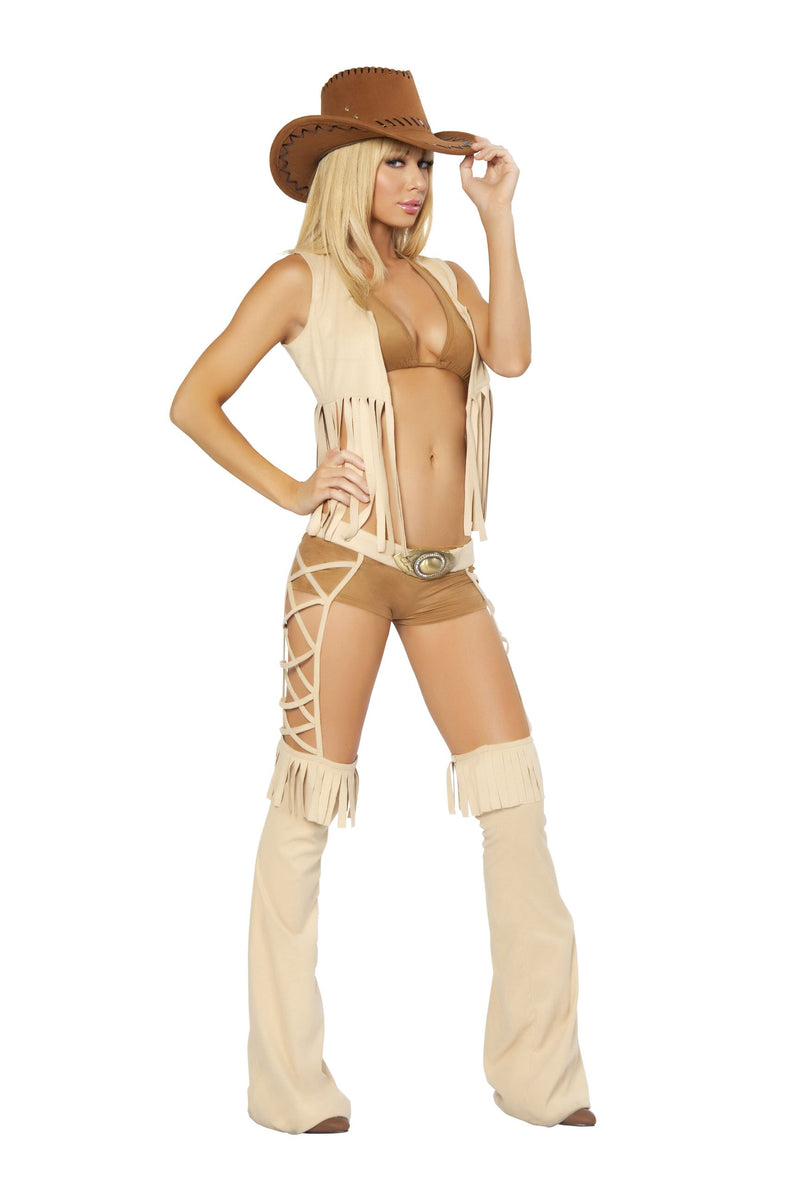 5-Piece-Wild-West-Cowgirl-Sheriff-Halter-Top-&-Shorts-w/-Accessories