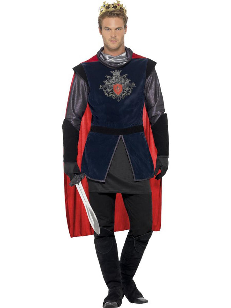 7-PC-Men's-Medieval-Knight-King-Arthur-Shirt-&-Cape-w/-Accessories-Party-Costume