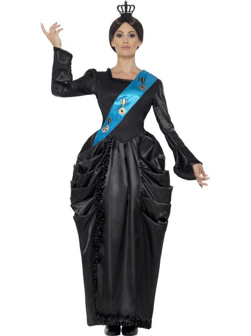 2-PC-Women's-Great-Britain-Queen-Victoria-Maxi-Dress-&-Headpiece-Party-Costume