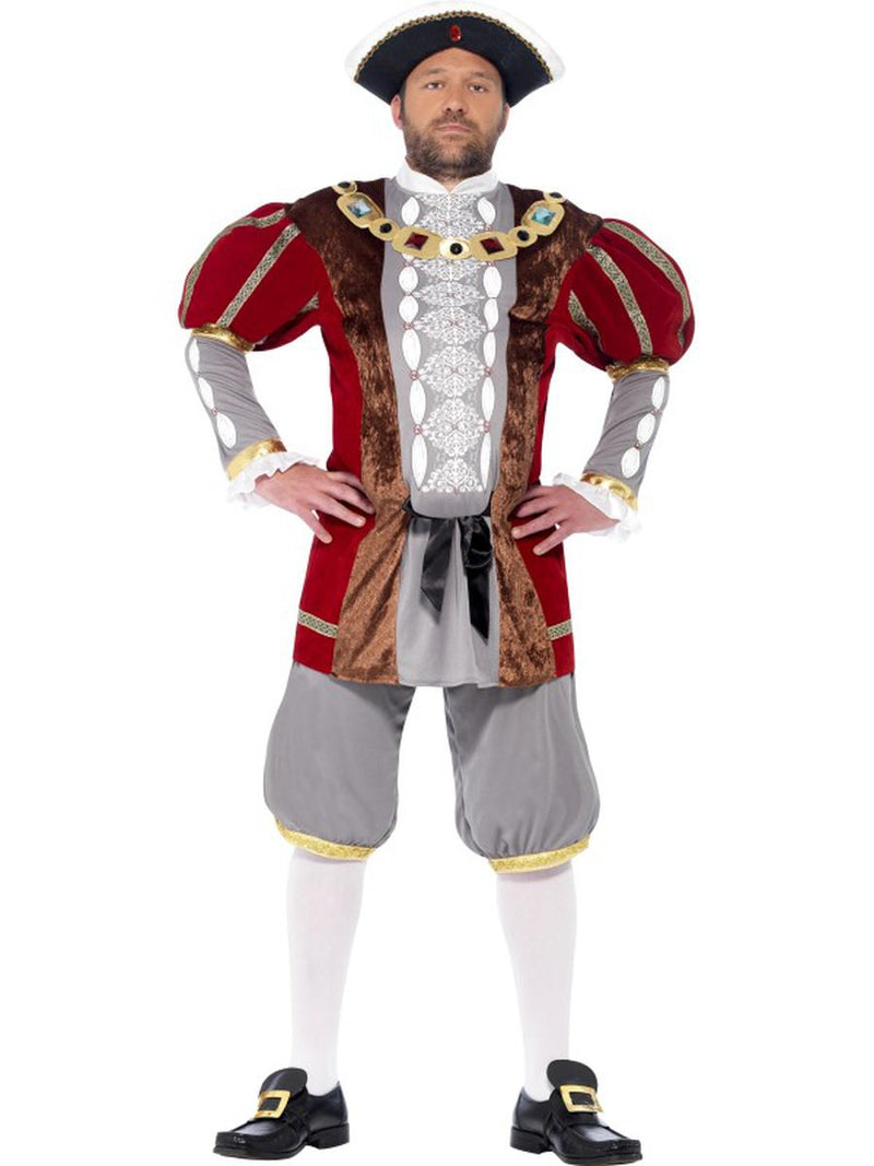 2-PC-Men's-King-of-England-Henry-VIII-Red-Jacket-&-Pants-Party-Costume