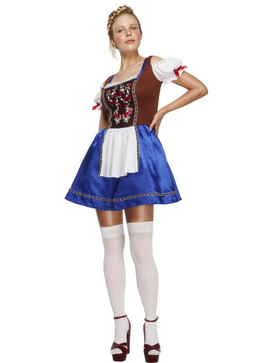 1-PC-German-Bavarian-Oktoberfest-Blue-&-Brown-Apron-Dress-Party-Costume-