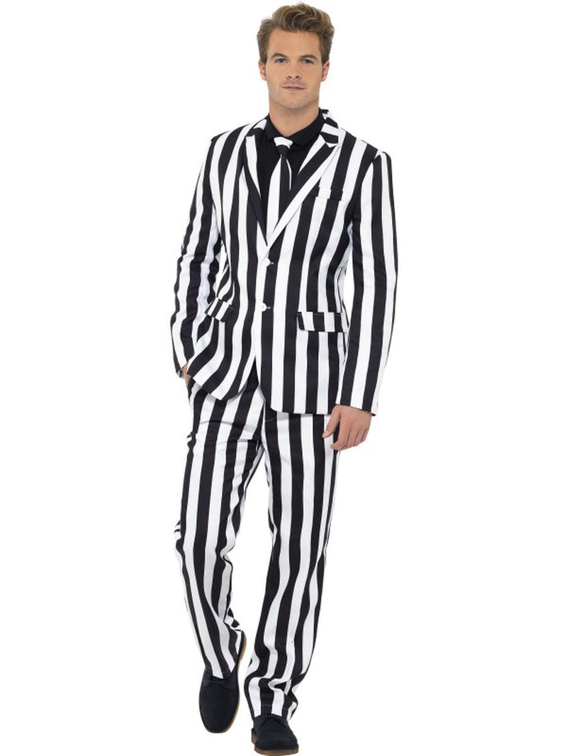 3-PC-Men's-Devious-Ghost-Black-&-White-Suit-Jacket-&-Pants-w/-Tie-Party-Costume