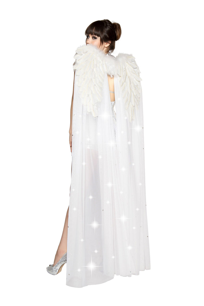 White-Angel-Double-Layer-Rhinestone-Feather-Wings-Costume-Accessory