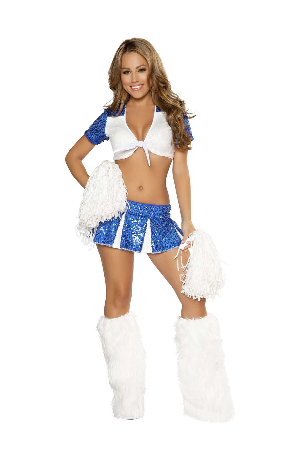 3-Piece-Sexy-High-School-Cheerleader-Crop-Top-&-Pleated-Skirt-Costume