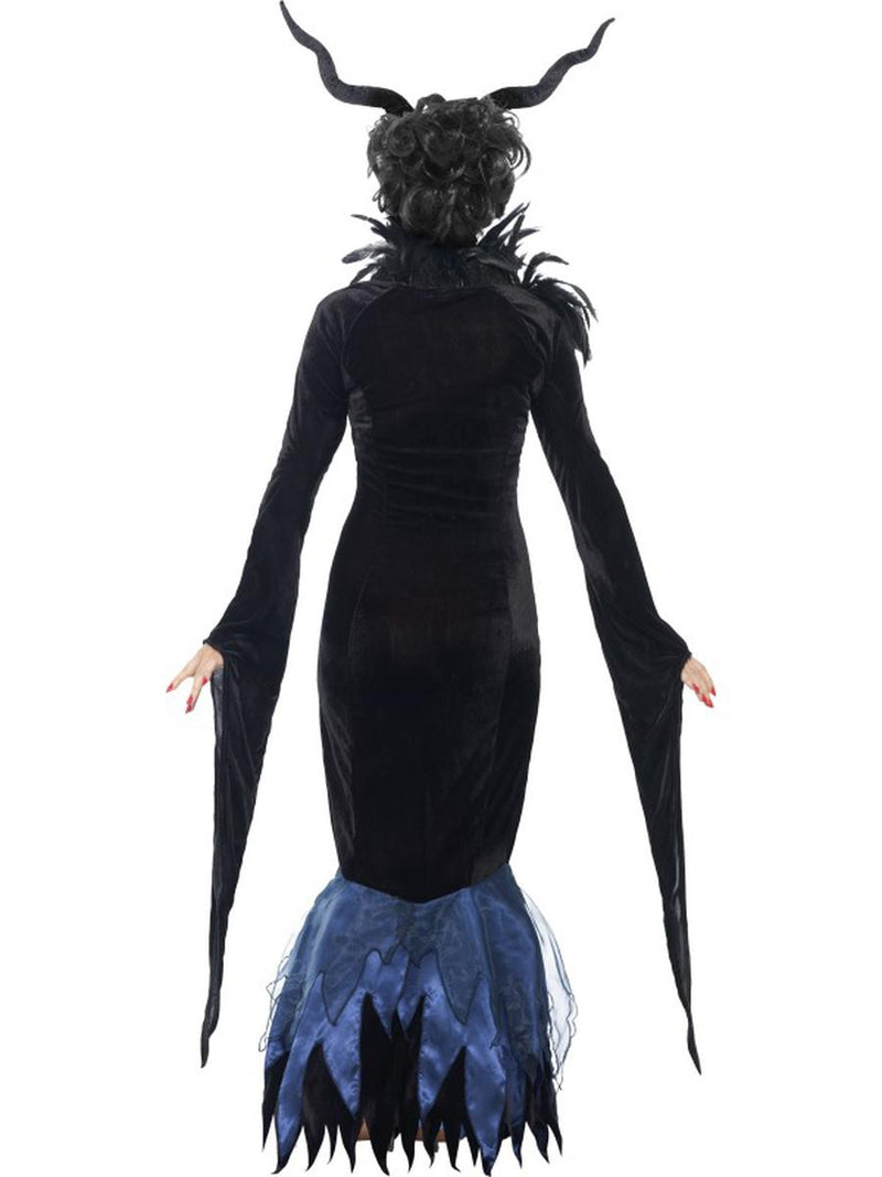 1 PC Women's Evil Raven Witch Fairy Feather Maxi Dress Party Costume - Fest Threads