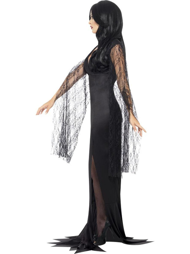 1 PC Women's Salem Wicked Witch Mother Black Maxi Dress Party Costume - Fest Threads