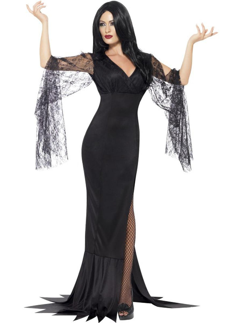 1-PC-Women's-Salem-Wicked-Witch-Mother-Black-Maxi-Dress-Party-Costume