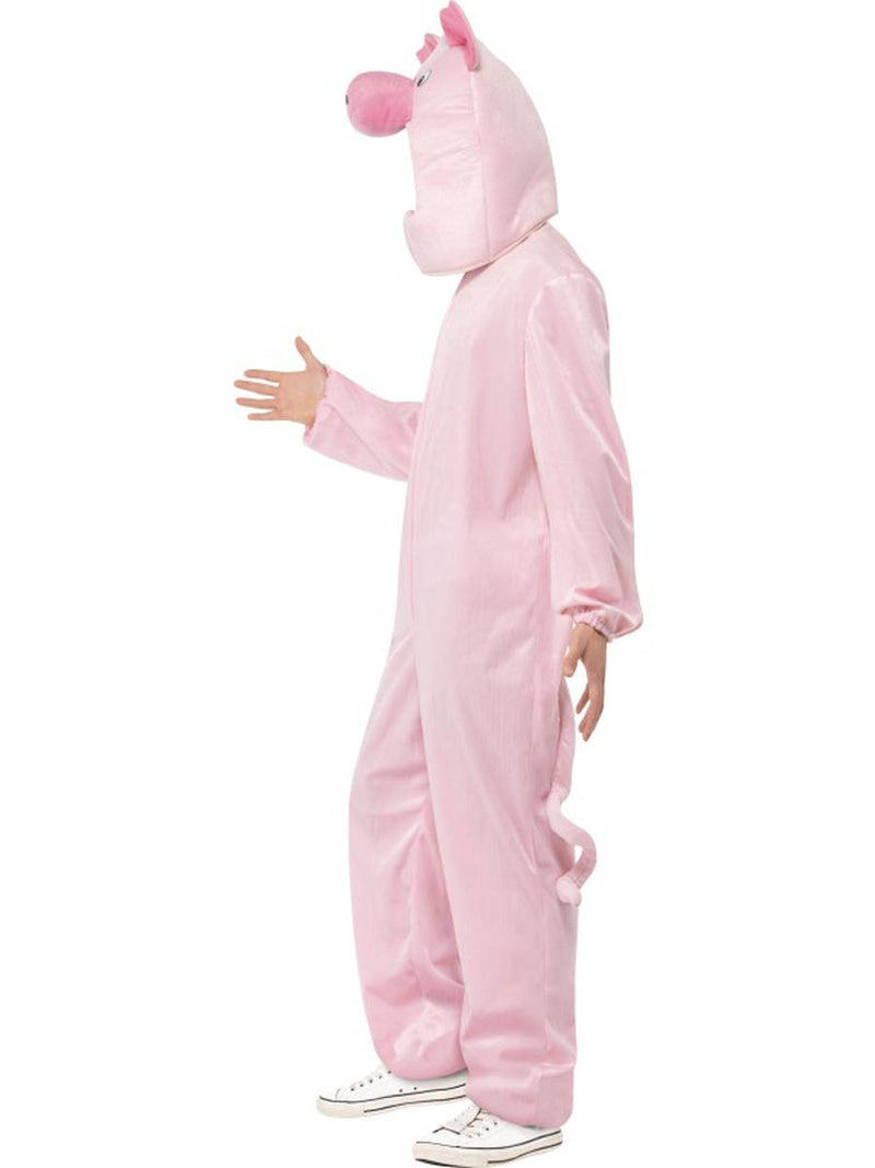 2 PC Unisex Pig Hog Mascot-Like Bodysuit & Open Hood Party Costume - Fest Threads