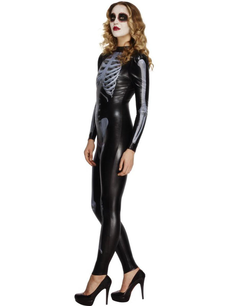 1 PC Xray Skeleton Day of the Dead Black Long Sleeve Body Suit Party Costume - Fest Threads