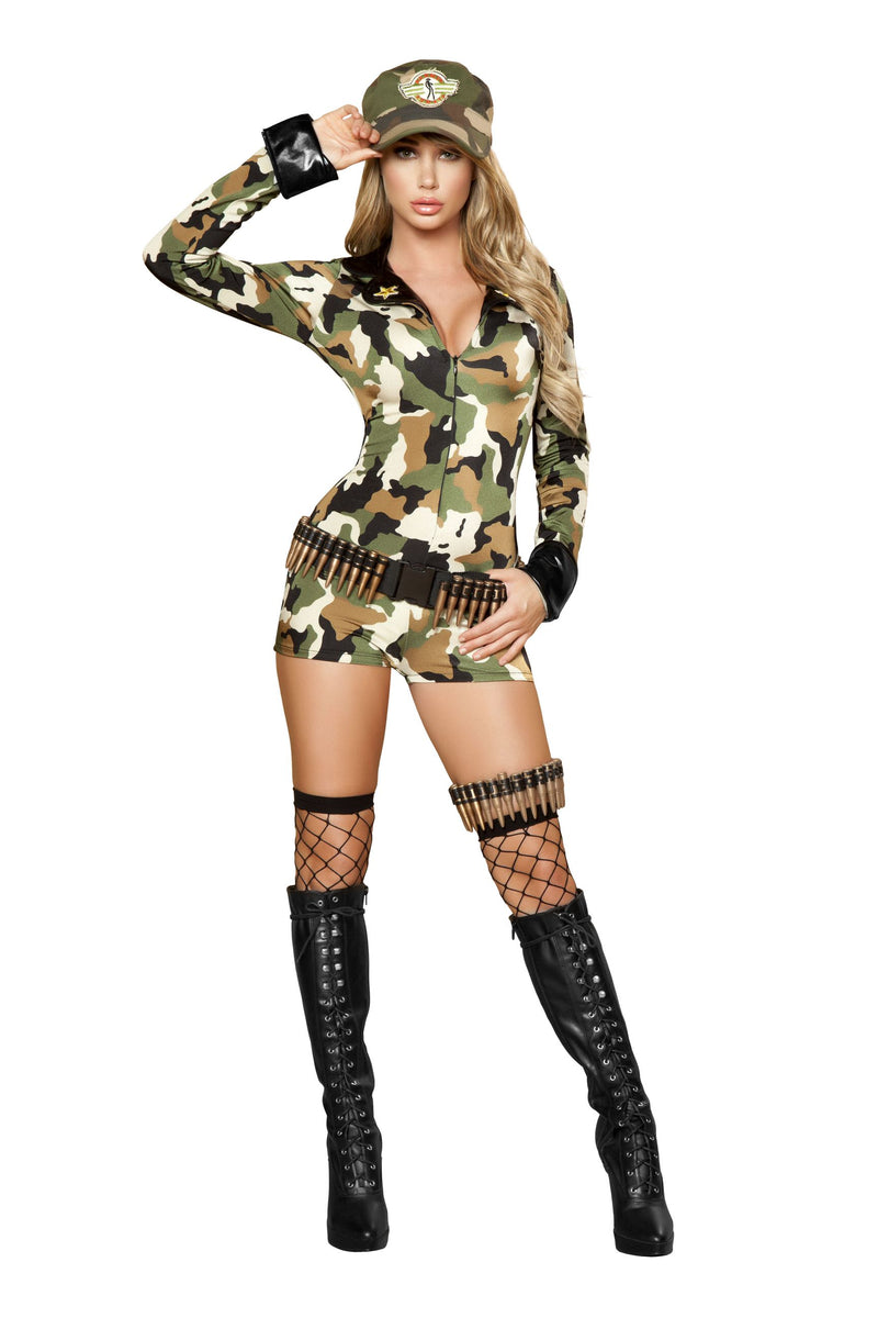 3-Piece-Army-Babe-Camo-Long-Sleeve-Romper-w/-Accessories-Party-Costume-
