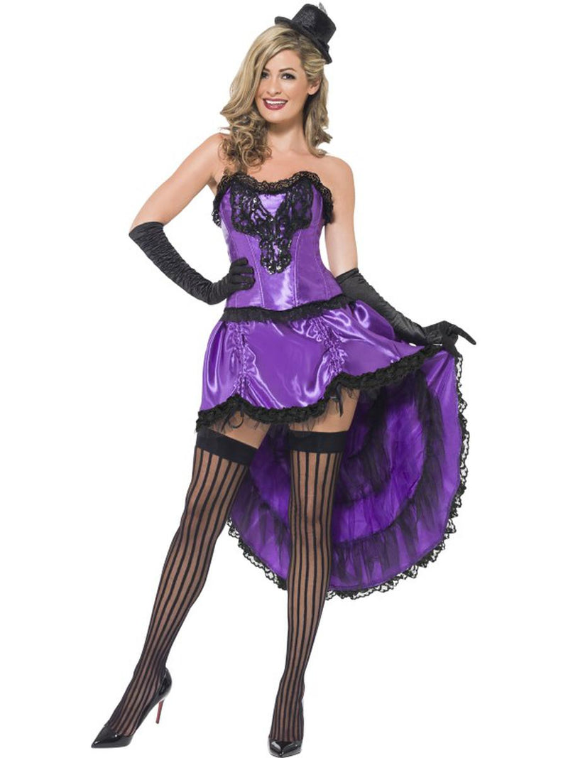 2-PC-Burlesque-Madam-Dancer-Purple-Corset-Top-&-High-Low-Skirt-Party-Costume