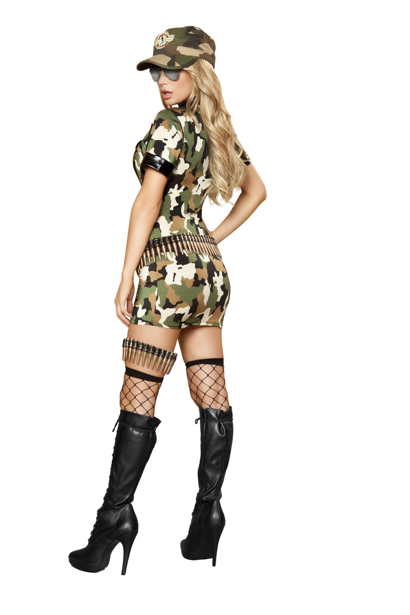 3 Piece Army Babe Camo Mini Dress w/ Accessories Party Costume - Fest Threads