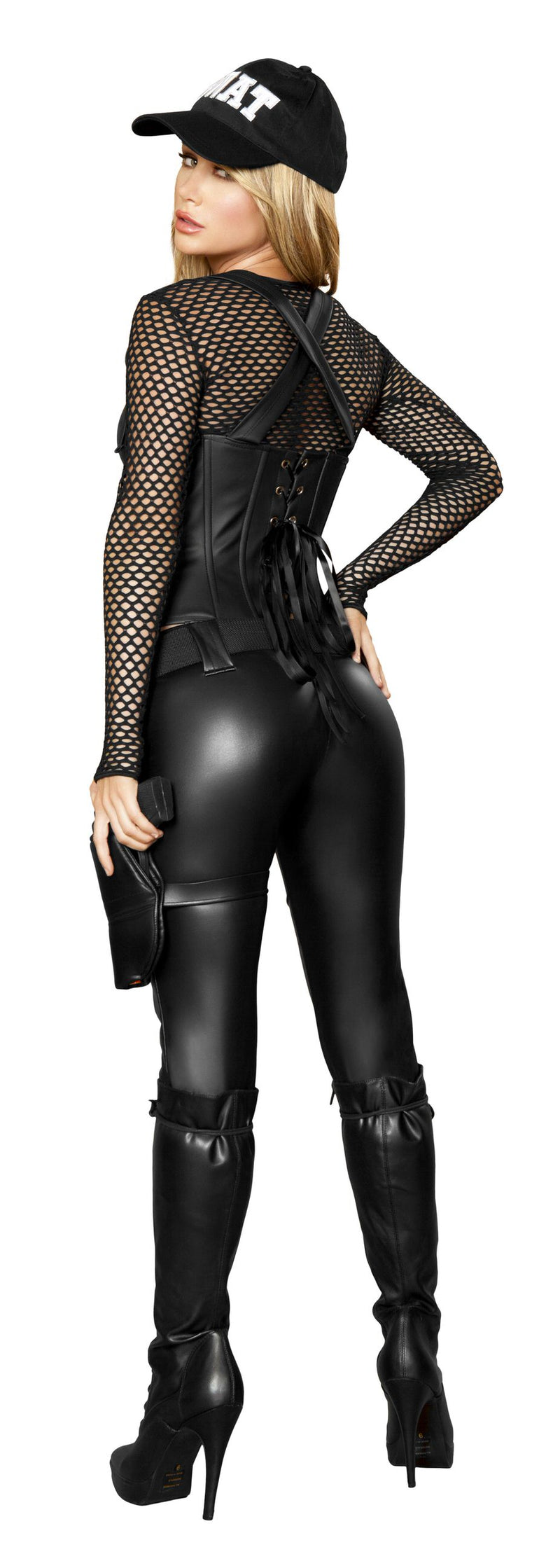 5 Piece Sexy SWAT Officer Top Cincher & Pants w/ Accessories Party Costume - Fest Threads