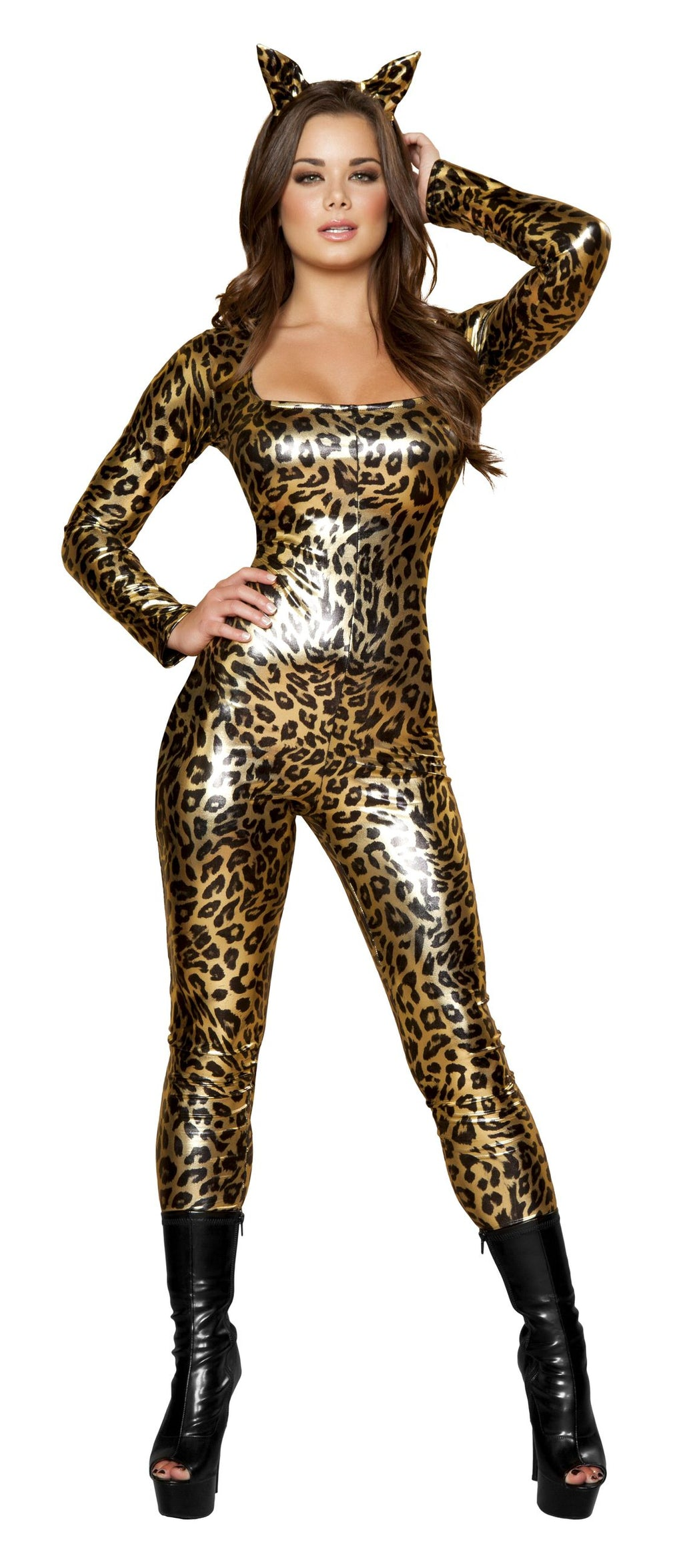 3-Piece-Leopard-Wild-Animal-Jumpsuit-w/-Accessories-Party-Costume