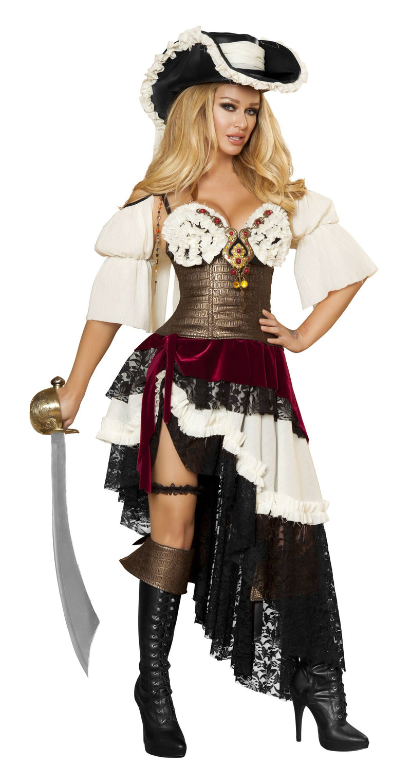 3-Piece-Pirate-Bra-Top-Cincher-&-Layered-Skirt-Party-Costume