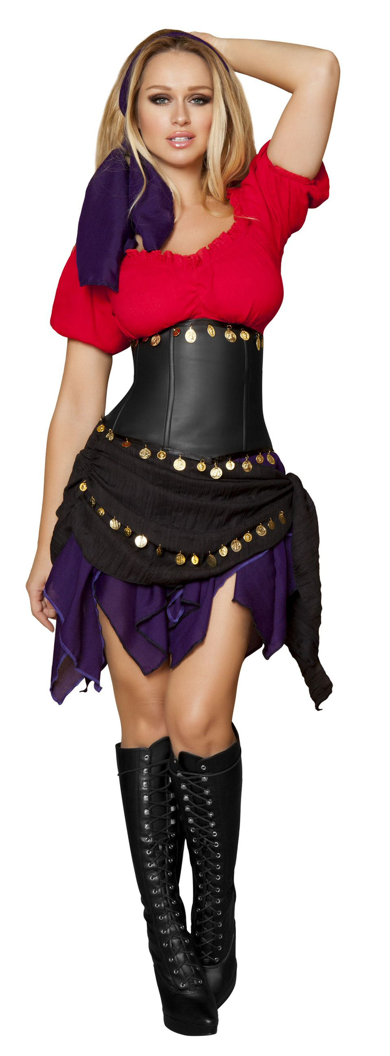5-Piece-Sexy-Fortune-Teller-Gypsy-Top-&-Skirt-Costume