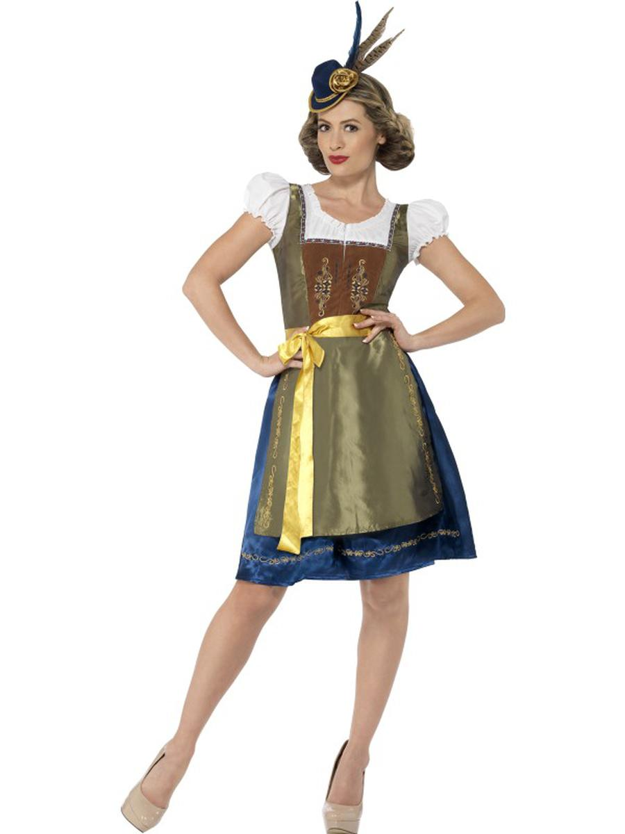 2-PC-German-Bavarian-Oktoberfest-Authentic-Dress-w/-Apron-Party-Costume-