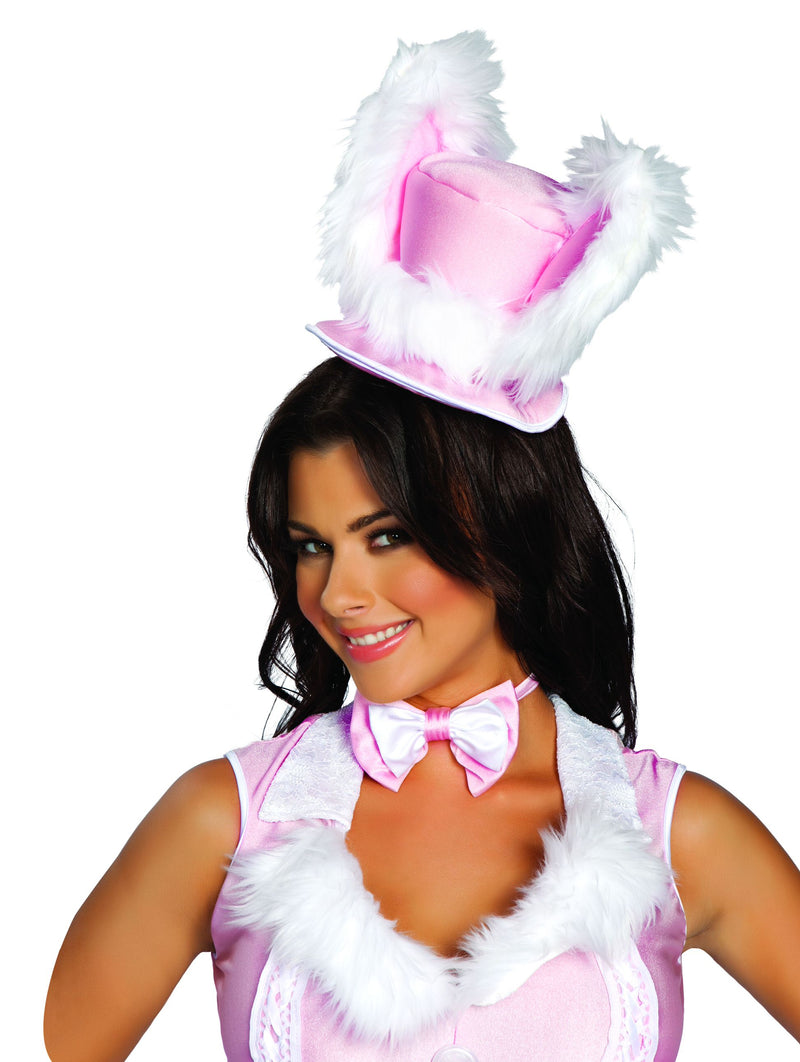 Adult-Women's-Sexy-White-Rabbit-Furry-Hat-Halloween-Party-Costume-Accessory