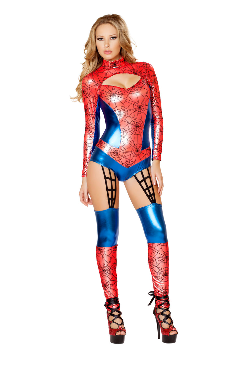 1-Piece-Miss-Spiderman-Superhero-Red-&-Blue-Jumpsuit-Costume