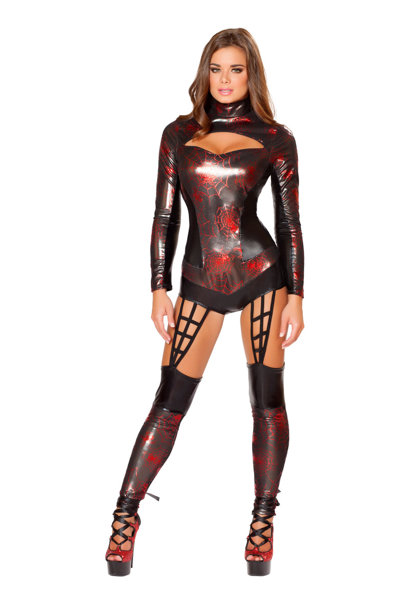 1-Piece-Miss-Spiderman-Superhero-Black-Widow-Jumpsuit-Costume