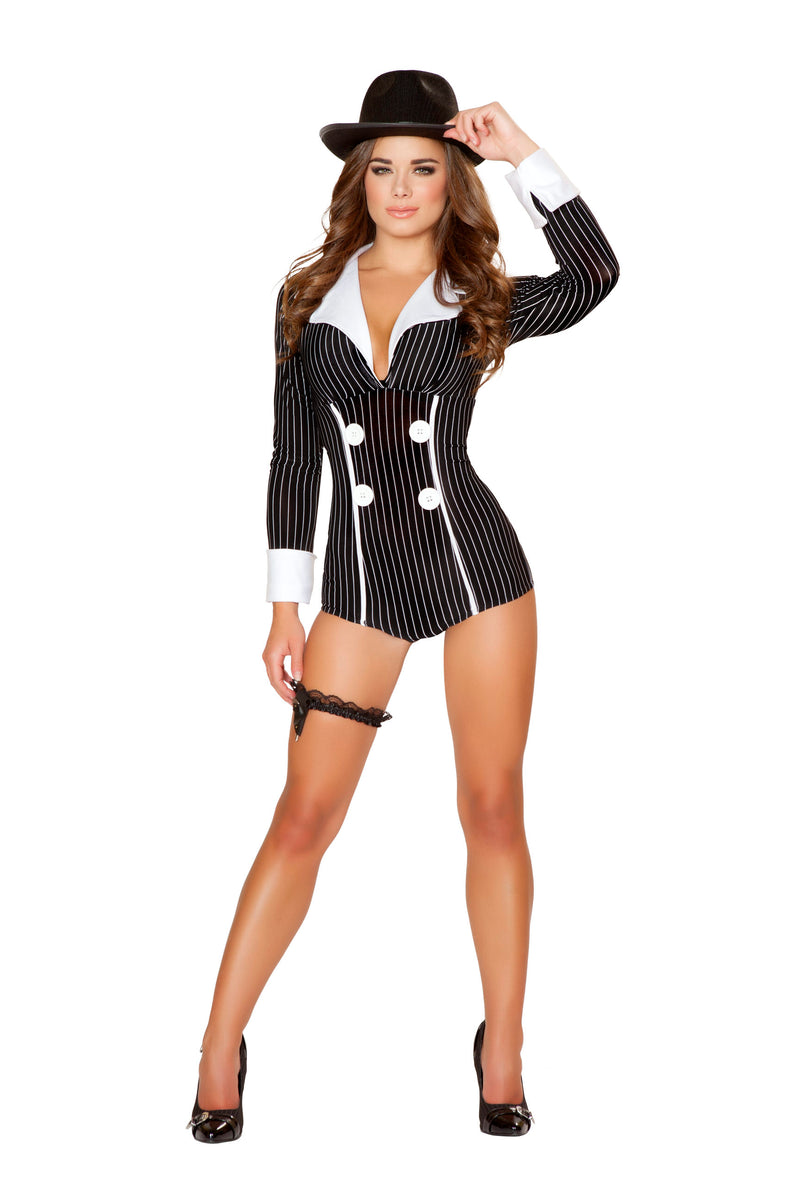 1-Piece-Gangster-Mob-Wife-Long-Sleeve-Pinstripe-Romper-Party-Costume