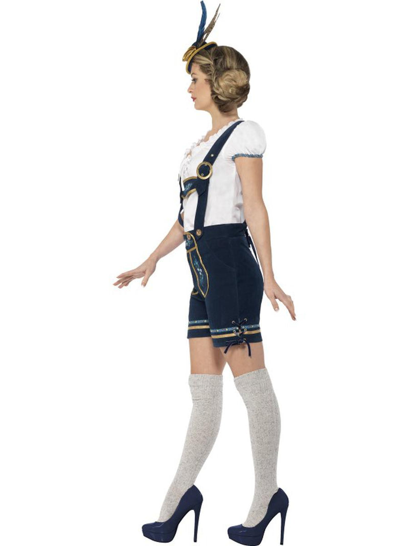 2 PC German Bavarian Oktoberfest Authentic Blue Lederhosen w/ Top Party Costume - Fest Threads