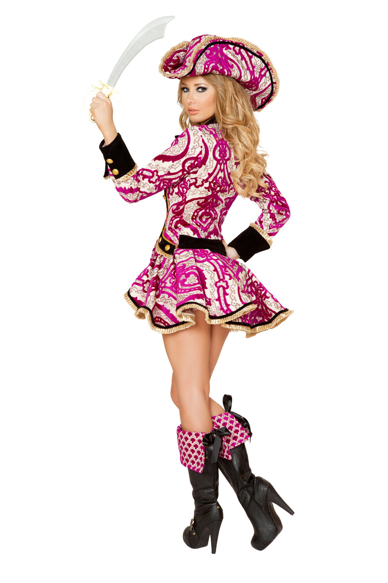 4 Piece Pirate Jacket Mini Dress Cincher w/ Accessories Party Costume - Fest Threads