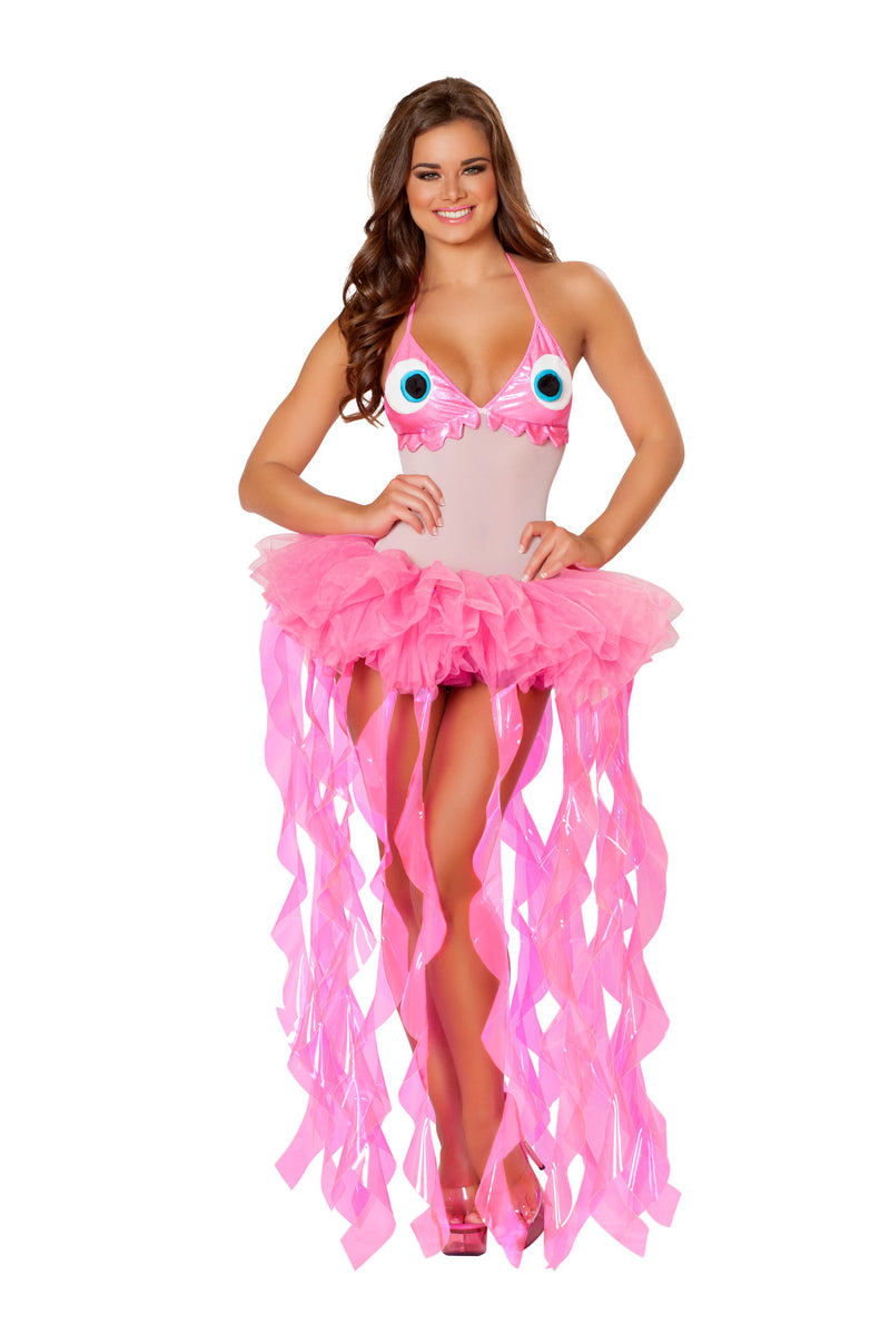 2-Piece-Sexy-Jellyfish-Seacreature-Bodysuit-w/-Tutu-Tentacle-Skirt-Costume