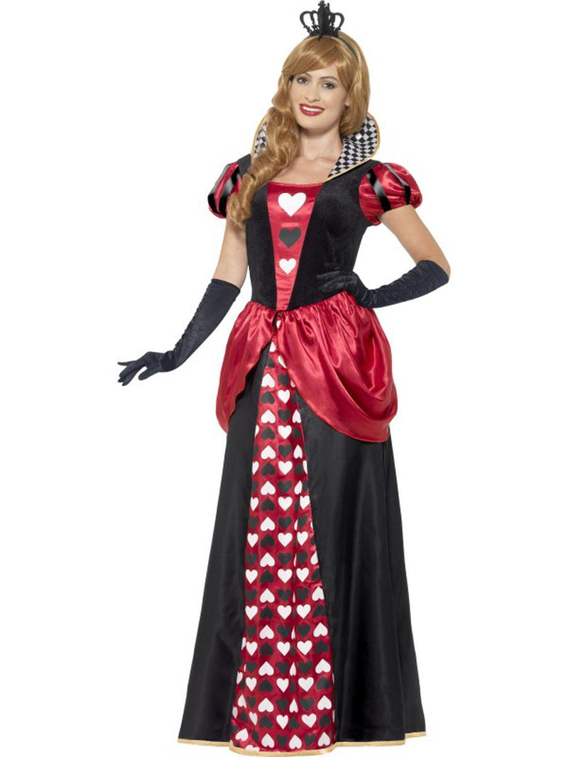 2-PC-Women's-Queen-of-Hearts-Maxi-Dress-&-Crown-Party-Costume