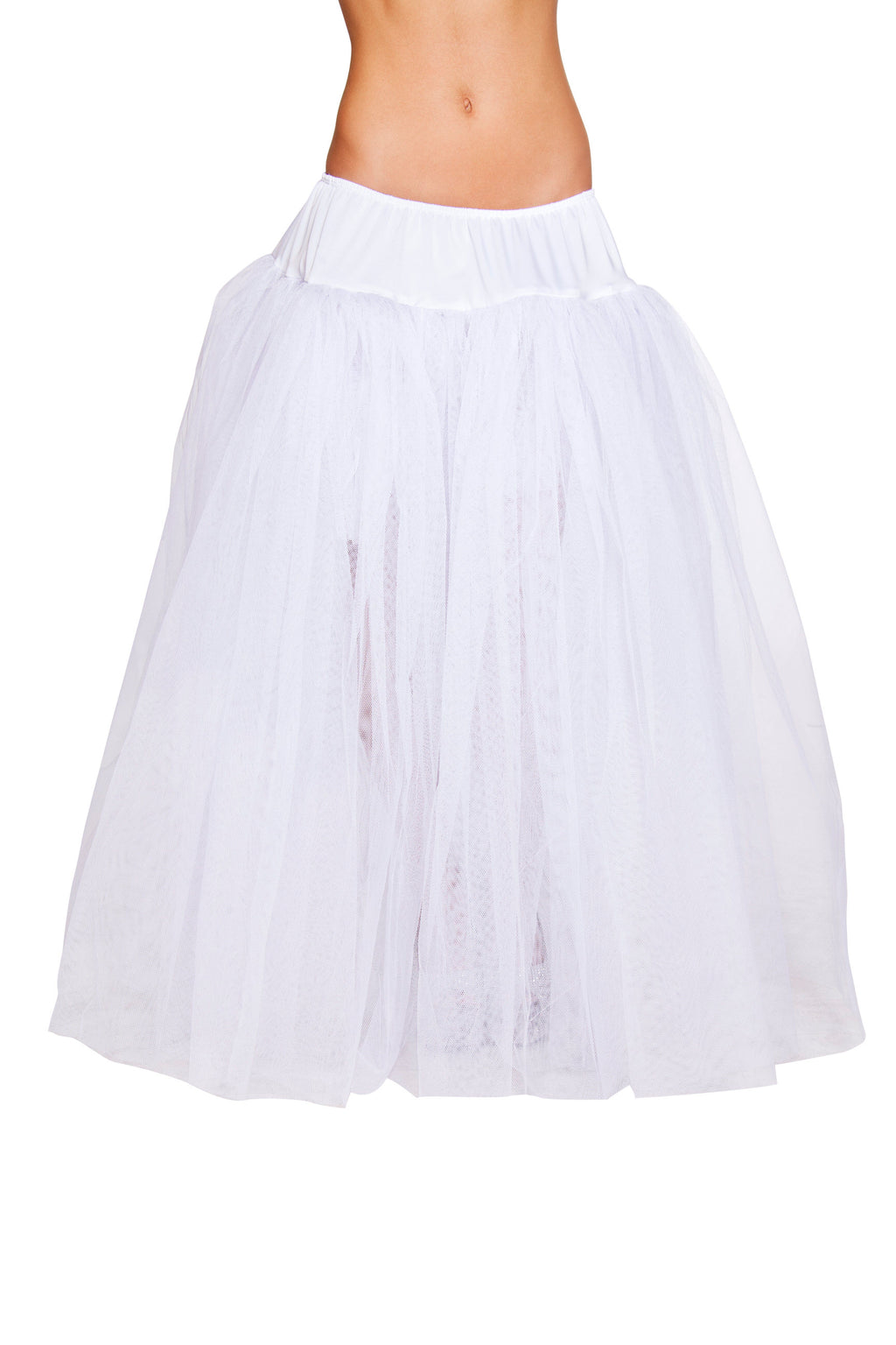 Adult-Women's-Full-Length-White-Petticoat-Halloween-Party-Costume-Accessory