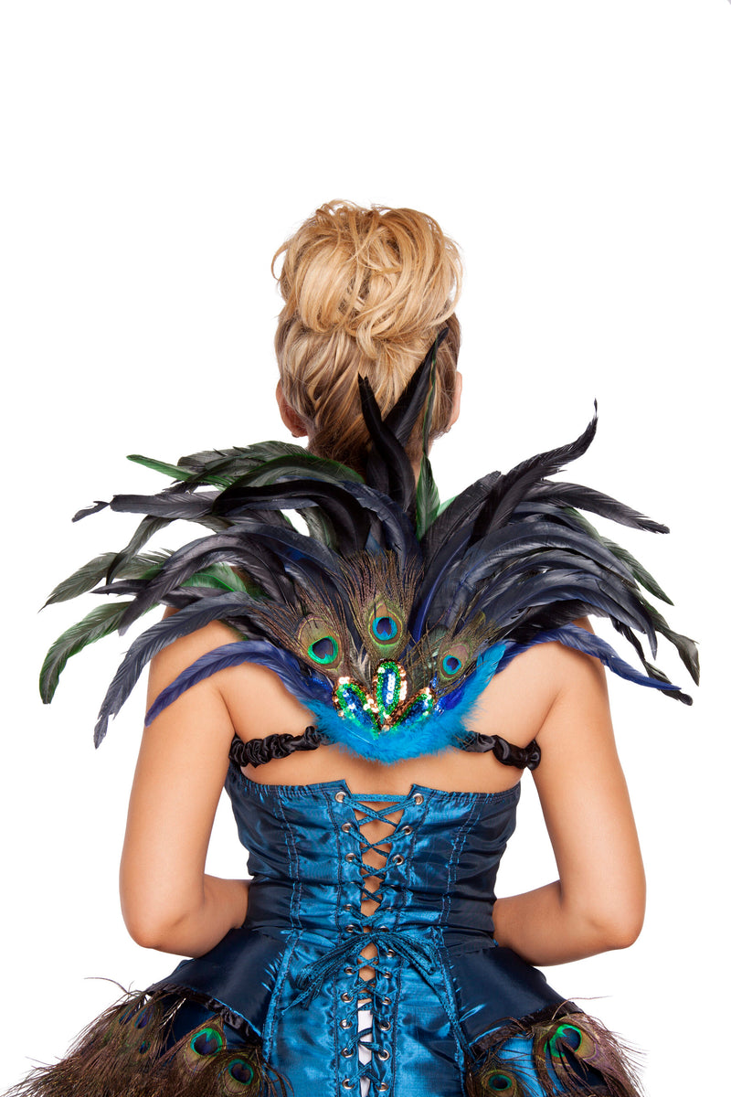 Adult-Women's-Sexy-Peacock-Mini-Tail-Feather-Halloween-Party-Costume-Accessory
