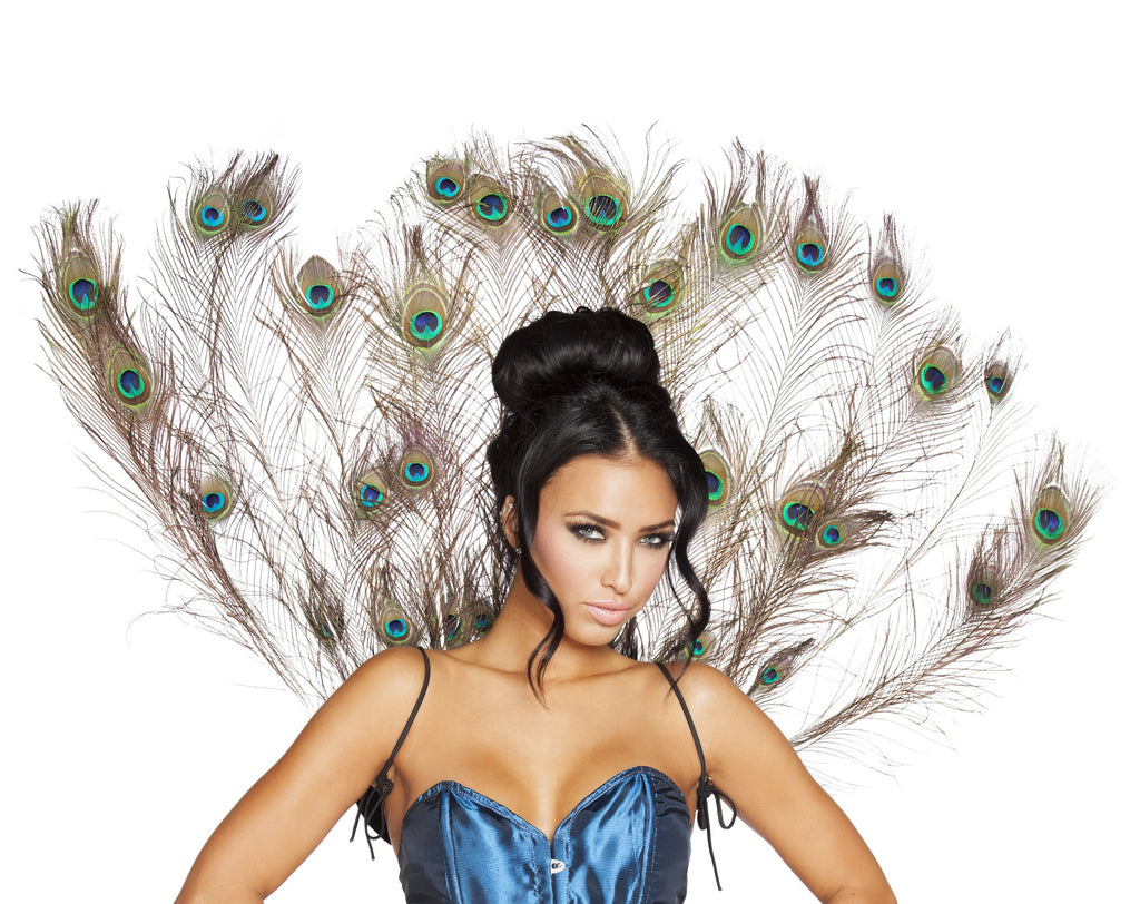 Adult-Women's-Sexy-Peacock-Tail-Feather-Halloween-Party-Costume-Accessory