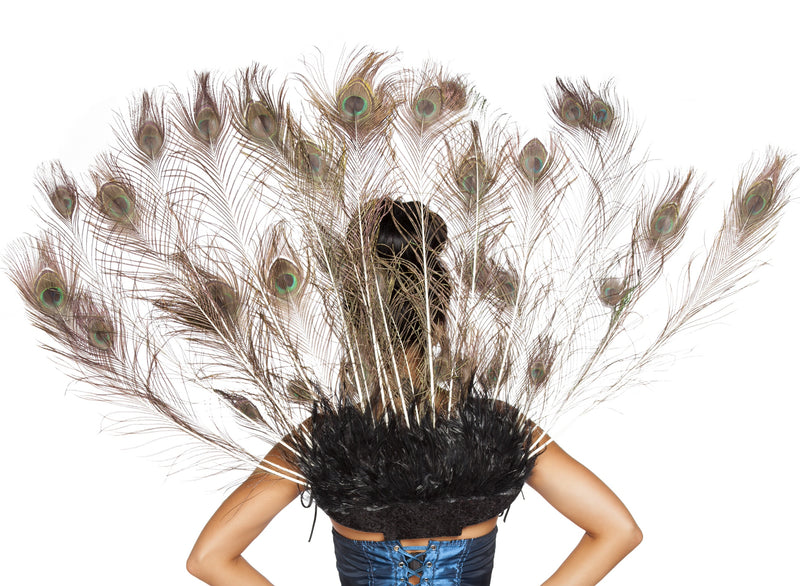 Adult Women's Sexy Peacock Tail Feather Halloween Party Costume Accessory