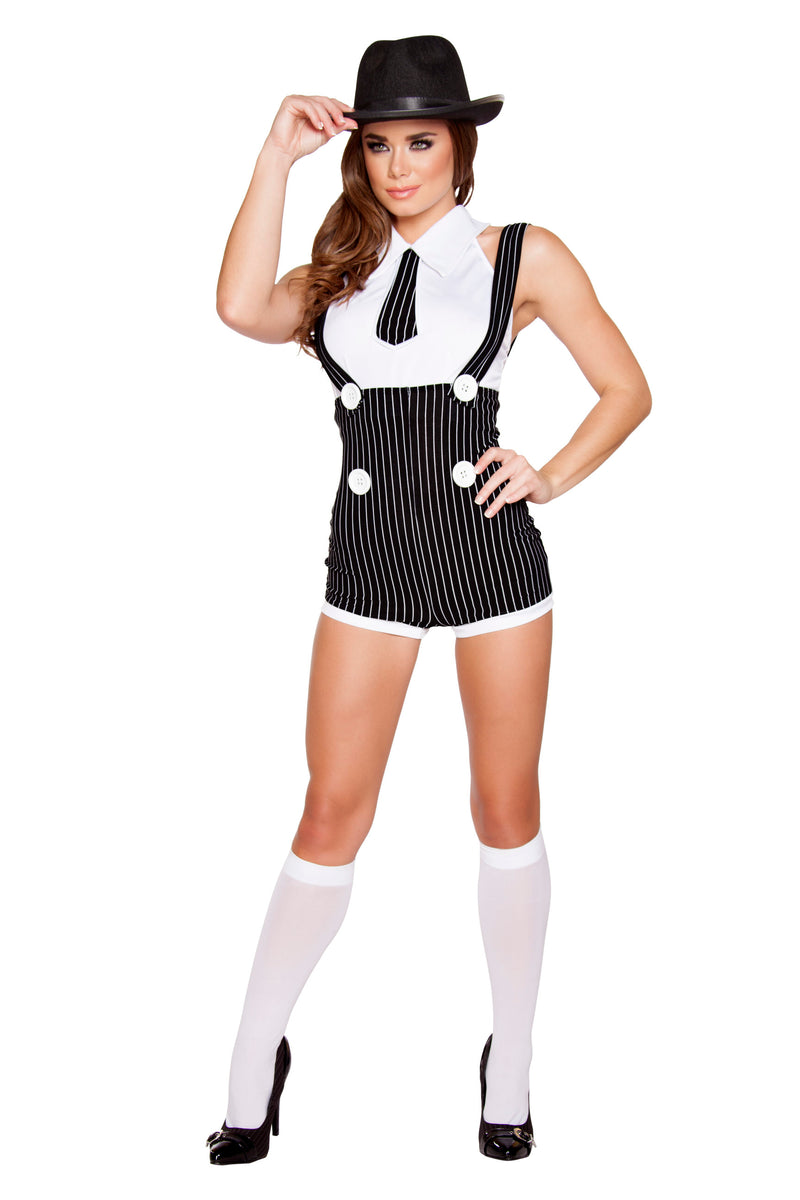 2-Piece-Gangster-Mob-Wife-Pinstripe-Suspender-Romper-&-Top-Party-Costume