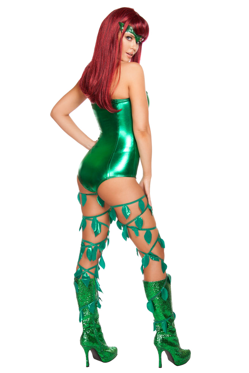 2 Piece Sexy Poison Ivy Villian Batman Enemy Strapless Romper Costume - Fest Threads