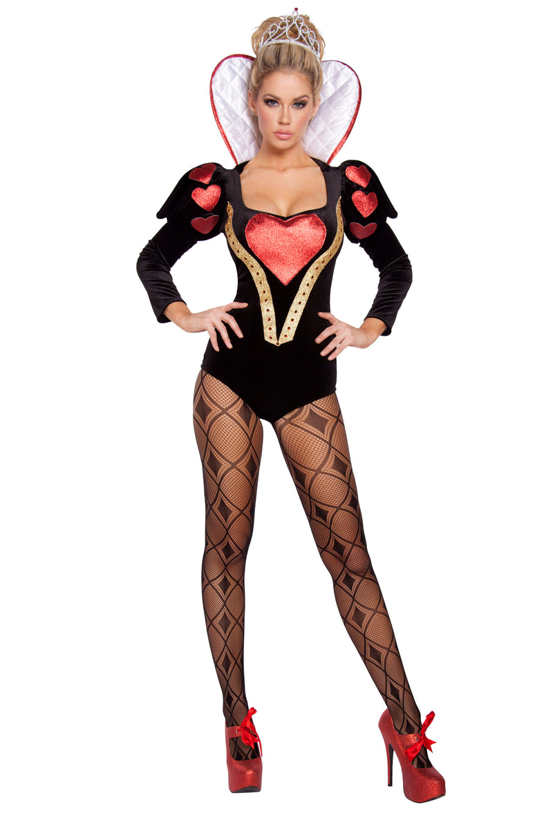 2-Piece-Alice-in-Wonderland-Queen-of-Hearts-Rhinestone-Romper-Costume