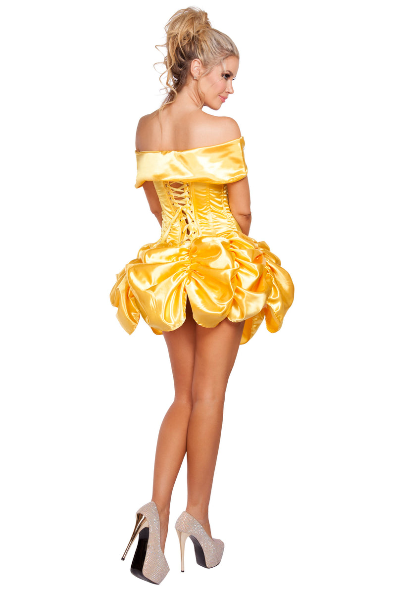 2 Piece Sexy Beauty & the Beast Princess Belle Top & Skirt Costume